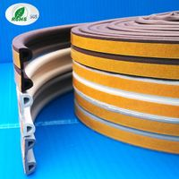 Self Adhesive EPDM Foam Rubber Window And Garage Door Seal Weather Stripping P0905