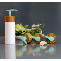 Emulsion Lotion Bottle With bamboo pump