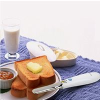 Upgrade Heated Knife Butter Spreader (White), Rechargeable Auto Warm, for Melting\Cutting\Spreading