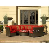 Well Furnir Company Limited Rattan Wicker Sectional Sofa Set WF-21072