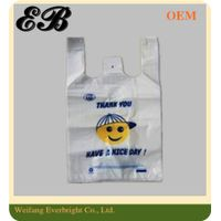 Disposable Supermarket Shopping T-shirt Bag