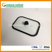 tempered glass lid with silicone rim glass pan lid glass pot lid good quality glass lid thumbnail image