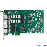 4-port Gigabit LAN Switch Expansion Card, PCI Express x1, LAN Bypass, -40°C to 85°C