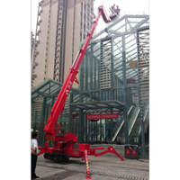 500kg crawler spider platform lift for steel construction