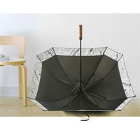 Hesanjiang Straight Creative Square umbrella,double layer windproof with wooden handle,pure colour