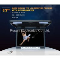 17 inch TFT LCD Flip Down Overhead Monitor with IR Transmitter thumbnail image