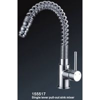 HY-155517 Single lever kitchen mixer with pull-out spout