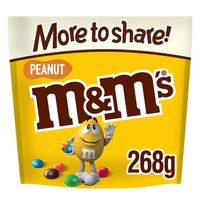 M&M's Peanut Chocolate More To Share Pouch 268 G