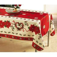 Polyester printed tablecloth for Christmas and other Festival days decoration thumbnail image