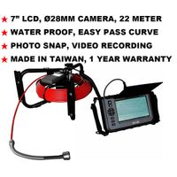 "JKS-2822 7"" LCD Industrial Borescoep Endoscope Videoscope NDT Pipe Inspection thumbnail image"