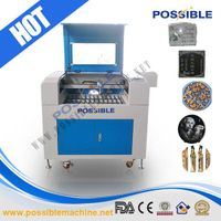 PBLE-40-6040 40w hot selling laser engraving machine co2 laser etched for glass bottle/wood
