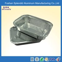 SPLS190B aluminum microwave disposable thermos fast food tray thumbnail image