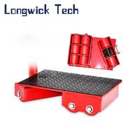 Cargo Transport Load Heavy Duty Carrying Platform Mover Skids Turnable Roller Trolley