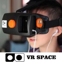 Google Cardboard Head Mount Plastic Version VR Virtual Reality 3D Glasses oculos rift for for 4~5.7