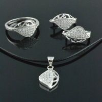 Custom Silver Ornament Jewelry Sets 925 Silver Finger Rings thumbnail image
