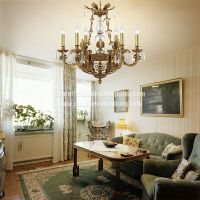 Crystal Chandelier Pendant Light French Empire Ceiling Light
