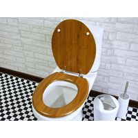 Eco-Friendly and Comfortable Bamboo Wood Toilet Seat Cover Set thumbnail image