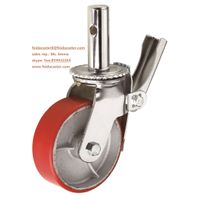 [Feida]Scaffolding caster heavy duty PU casting iron load heavy weight caster manufacturer thumbnail image