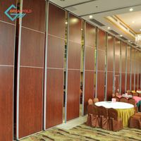 Removable acoustic partition wall sliding folding partition for restaurant interior thumbnail image
