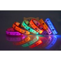 LED nylon pet dog collar LED pet collar led dog collar 024