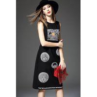 2015 europea popular embroidery cartoon sleeveless dress for ladies thumbnail image