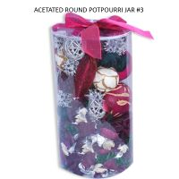 ACETATED ROUND POTPOURRI JAR #3