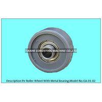 pe roller wheel with precision bearing, pe skate wheel with precision bearing, pe track wheel with p thumbnail image