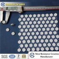 Cost effective alumina ceramic wear sheet for light impact environment