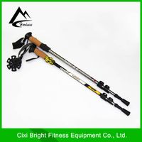 3-Section Aluminium outer locked telescopic walking stick
