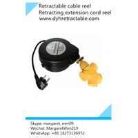 retracting electrical extension cord reel retractable cable management organizer