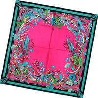2012 Fashion Print Square Silk Scarves