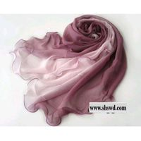 100% silk scarf,fashion gradient,5 colors in thumbnail image
