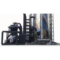 50 Ton Flake Ice Machine/Plant with Water Cooled Condenser for Sale Concrete/Food Cooling