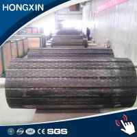 removable pulley lagging for conveyor