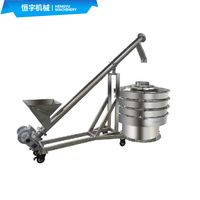 Movable Stainless Steel Inclined Auger Screw Conveyor