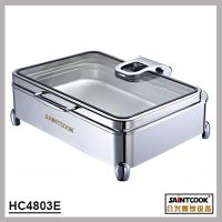 HC4803E 1/1 size stainless steel hydraulic induction chafing dish,buffet food warmer