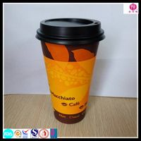 Disposable Paper Coffee Cup with Custom Logo Printed