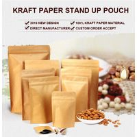 Kraft paper bag stand up pouch