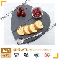 heart shape slate cheese plate for restaurant or patty
