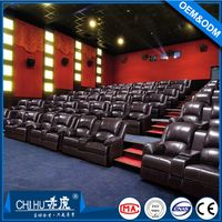 Modern design home theater recliner sofa(CH-608) with electric motor and cupholder