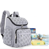 Multi-function large capacity double shoulder mother bag backpack baby diaper bag