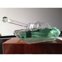 Tank shape glass bottle Tank wine glass bottles made by glass Tank