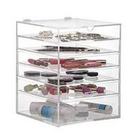 Beautify Clear Acrylic Cosmetic Makeup Cube Organizer With 3 Drawer thumbnail image