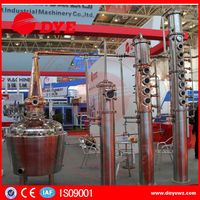 500L red copper industrial distilling machine