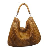 Brand fashion bag Hand Woven Bags Composite sheepskin knitting bag