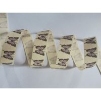 cotton ribbon with printing butterfly thumbnail image