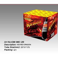 42S red dragon fireworks