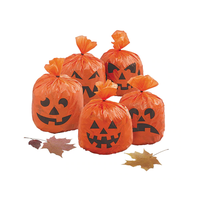 Halloween Party Decoration Yard Plastic Leaves Trash Bags for Holiday