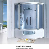 White Luxury Steam Shower Room with Bathtub