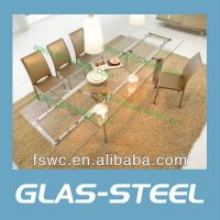 Glas-Steel Extension Dining Table BT920 thumbnail image